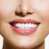 A patient who's received teeth whitening in Covington.