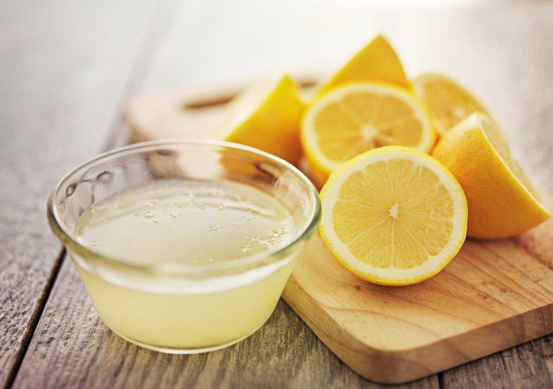 lemon juice damage oral health